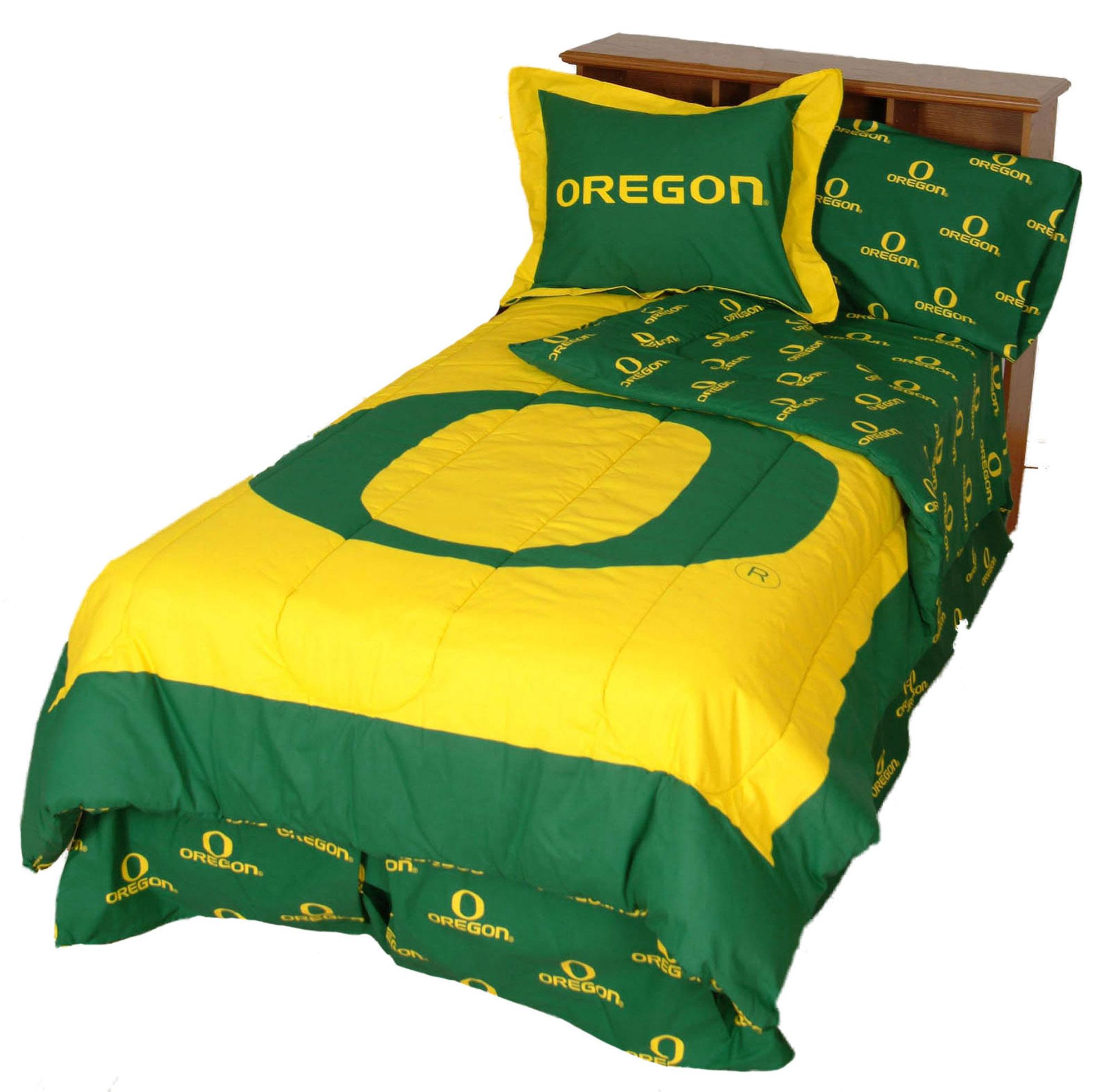 Oregon Ducks 2 Pc Comforter Set, 1 Comforter, 1 Sham, Twin
