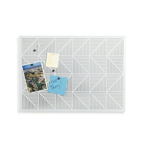 Umbra Bulletin Board (Umbra Trigon Metal Bulletin Board/Magnet Board, Geometric Accessory,)