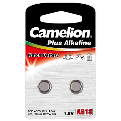 """5 Pack Camelion Plus Alkaline High Energy """"AG13"""" LR44 1.5V Battery 2 Pk Each"""