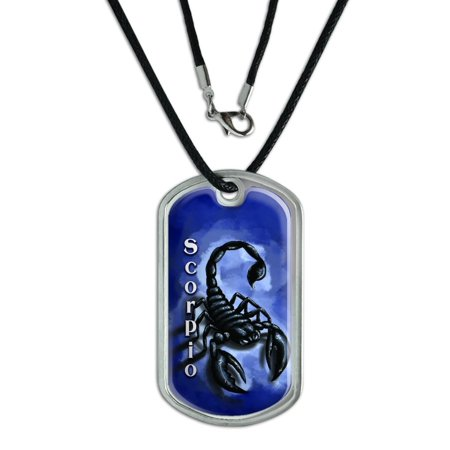 Scorpio Scorpion Zodiac - Astrological Sign Astrology Dog Tag