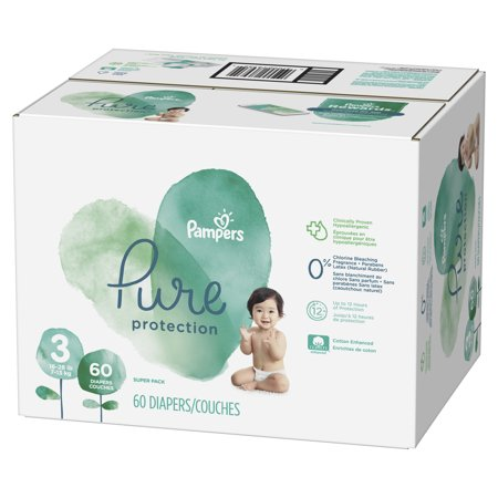 Pampers Pure Protection Diapers (Choose Size and Count) (Newborn Snow White Costume)