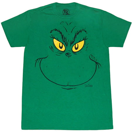 Dr. Seuss Grinch Face T-Shirt - Dr Seuss Clothing For Kids