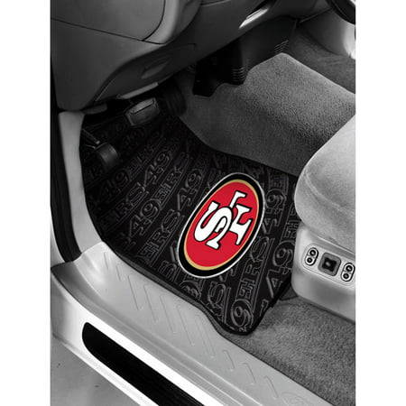 NFL San Francisco 49ers 2 Pc Front Floor Mats Car Seat Cover