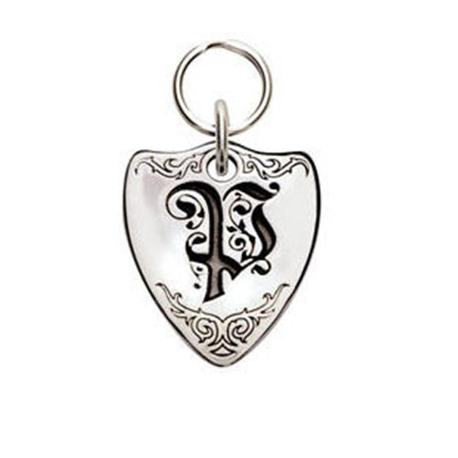 Rockinft Doggie 844587000288 Small Sterling Silver Crest Dog Tag - Letter P