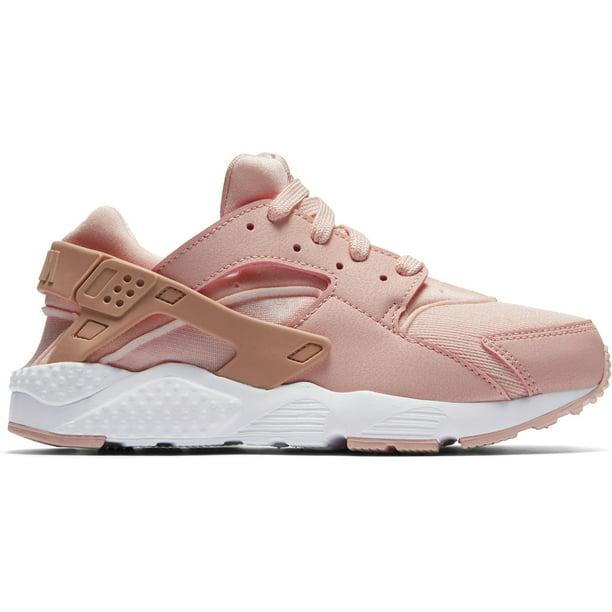 Nike 859591-604: Girls Huarache Run Storm Pink/ Rust Pink-White Sneakers (2 M US Little Kid)