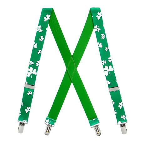 Suspender Store Irish Shamrock Novelty Suspenders for Kids (3 Sizes) - Shamrock Suspenders