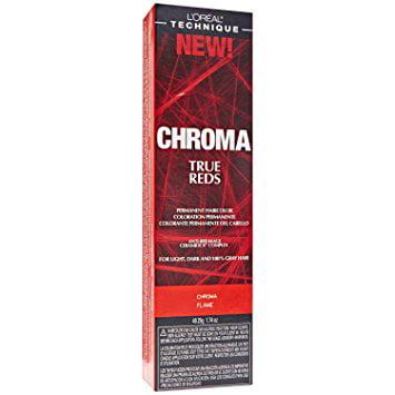L'oreal Paris Chroma True Reds Hair Color, Flame, 1.74 Oz