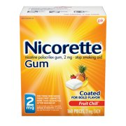 Nicorette Nicotine Gum to Stop Smoking, 2mg, Fruit Chill Flavor - 160 Count