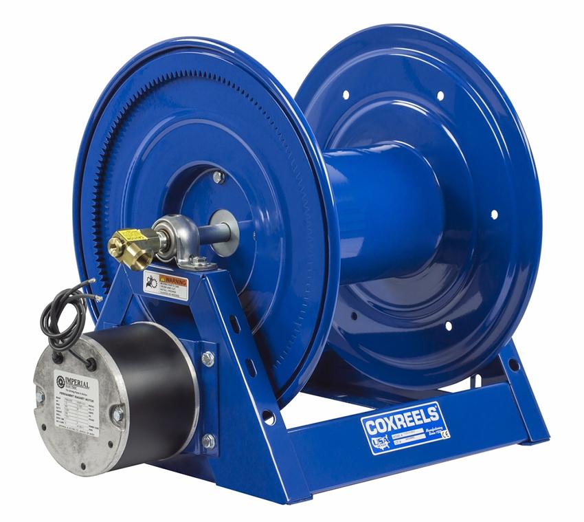 "COXREELS 1125-4-450-EB 24V DC 1 2HP Motor Hose Reel 1 2"" x 450' no hose 3000 PSI by Coxreels"
