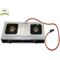 Double Burner Stove Gas Propane Stove Cooktop Commercial Outdoor Whirlwind Burner Camp Cooking