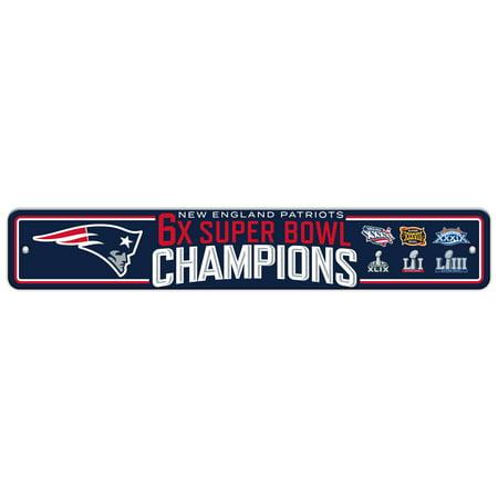 NFL New England Patriots Super Bowl LIII Champion Street - Jayhawk Street Sign