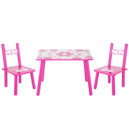 Dilwe Childrens Wooden Table And Chair Set Kids Childs Studying