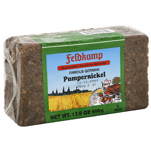 Feldkamp Pumpernickel Bread, 17.6 oz, (Pack of 12)