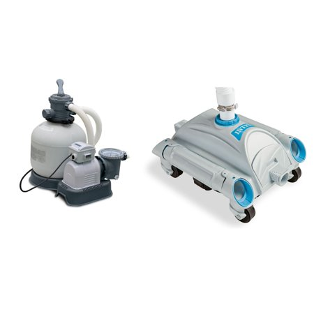 INTEX 3000 GPH Above Ground Pool Sand Filter Pump and INTEX Automatic (Automatic Pool Filter)