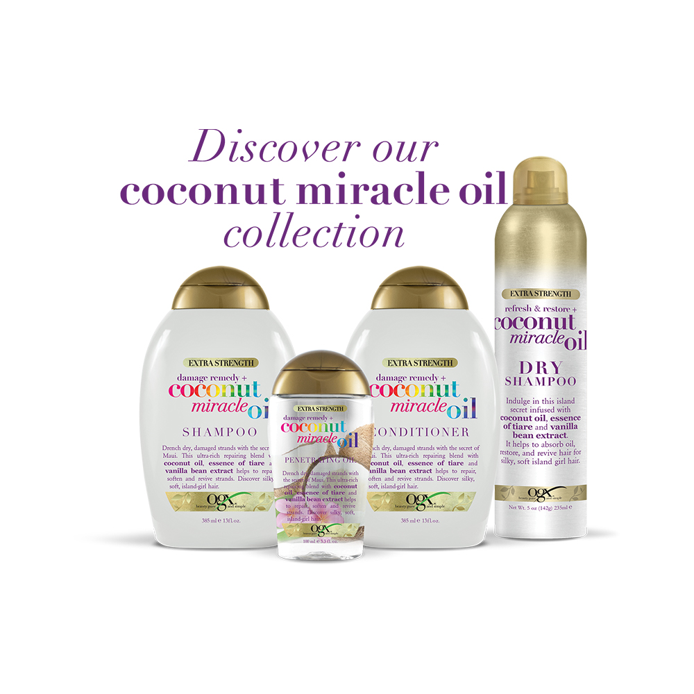 OGX Extra Strength Damage Remedy + Coconut Miracle Oil Penetrating ...