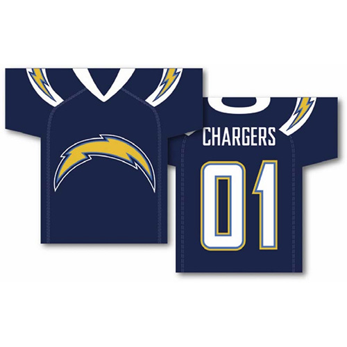 Fremont Die, Inc. San Diego Chargers Jersey Banner - 2-Sided Jersey Banner 34 x 30 Inch - 2-Sided