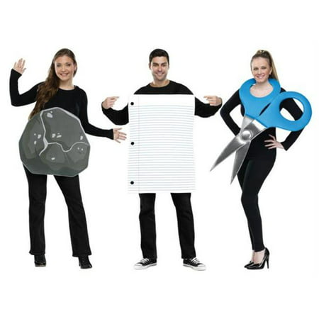 Morris Costumes FW130994 Rock Paper Scissors Adult Coup - Rock Paper Scissors Halloween Costumes