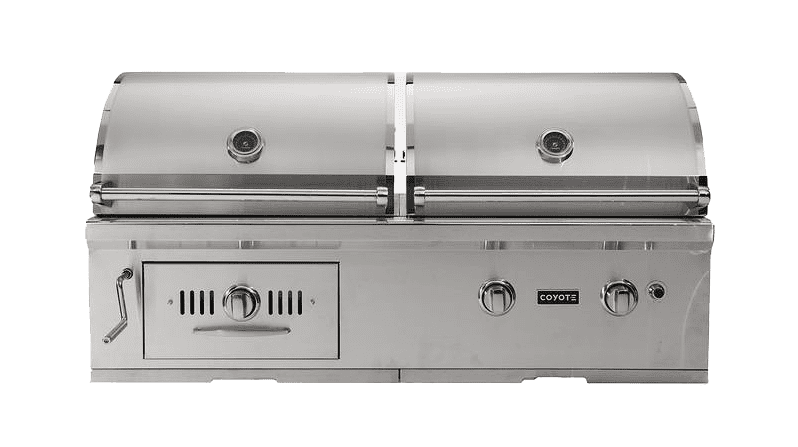 """Centaur CH50NG 50"""" Natural Gas Hybrid Gas and Charcoal Grill with 2 High Performance iBurners 1200 sq.... by Coyote"""