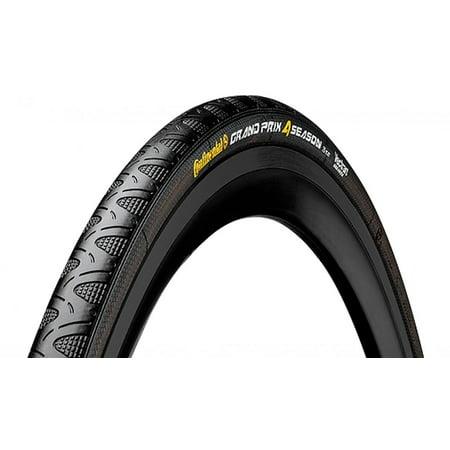 Continental Grand Prix 4 Season Black Edition Road Bike Tire - Vectran Puncture Protection, DuraSkin Sidewall Protection, Folding Bike Tire (700x23, 700x25, 700x28, (Best 700x25 Road Bike Tire)