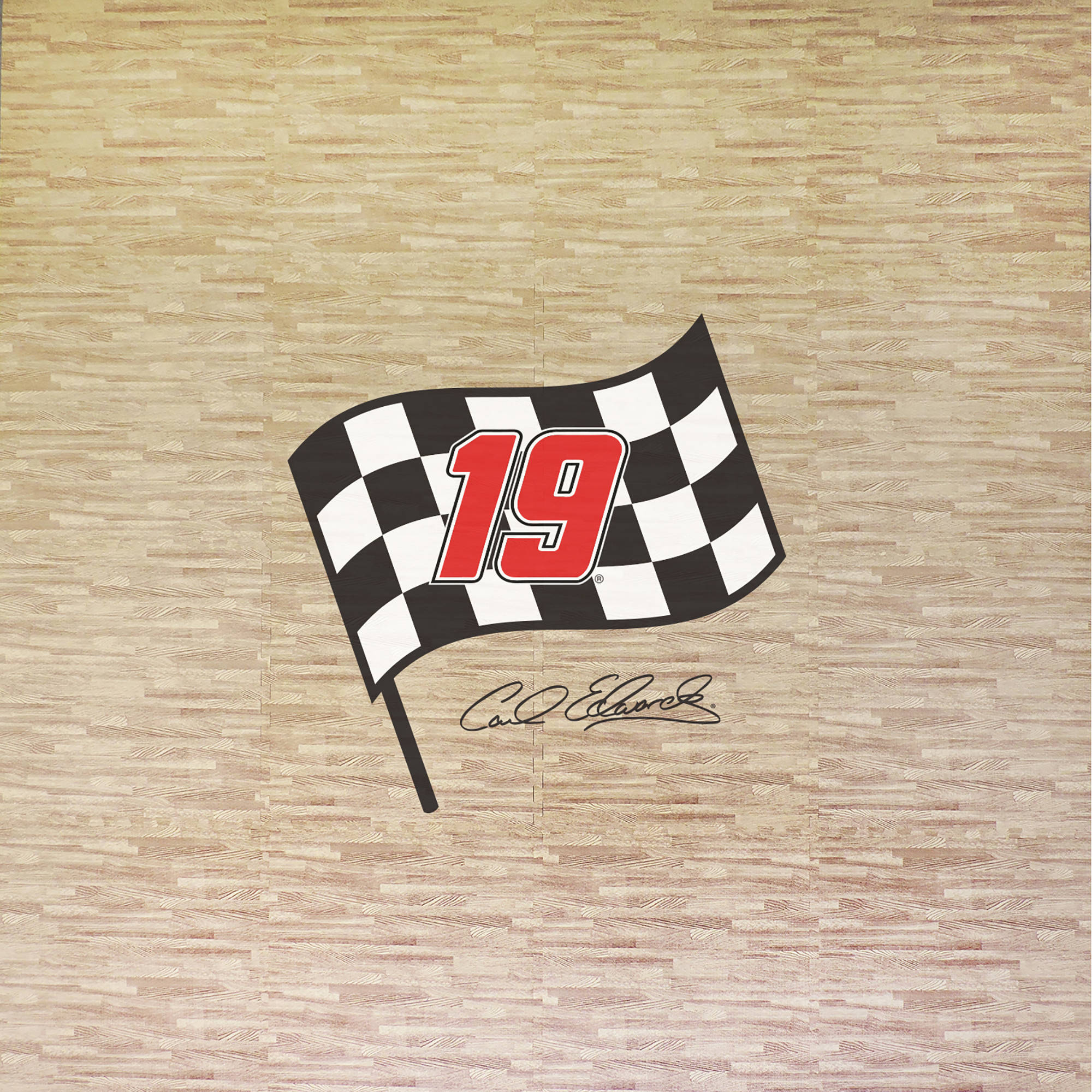 Carl Edwards Portable Foam Puzzle Tailgate Floor Mat by
