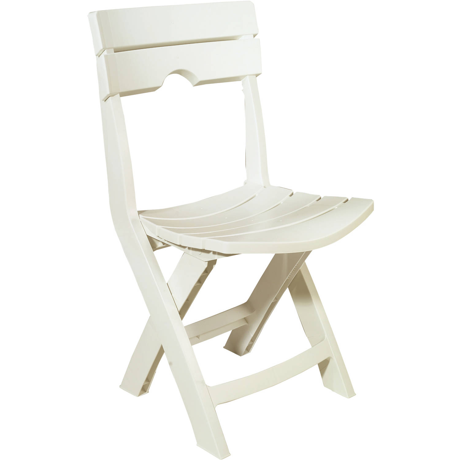 Adams Manufacturing Quik Fold Chair, White