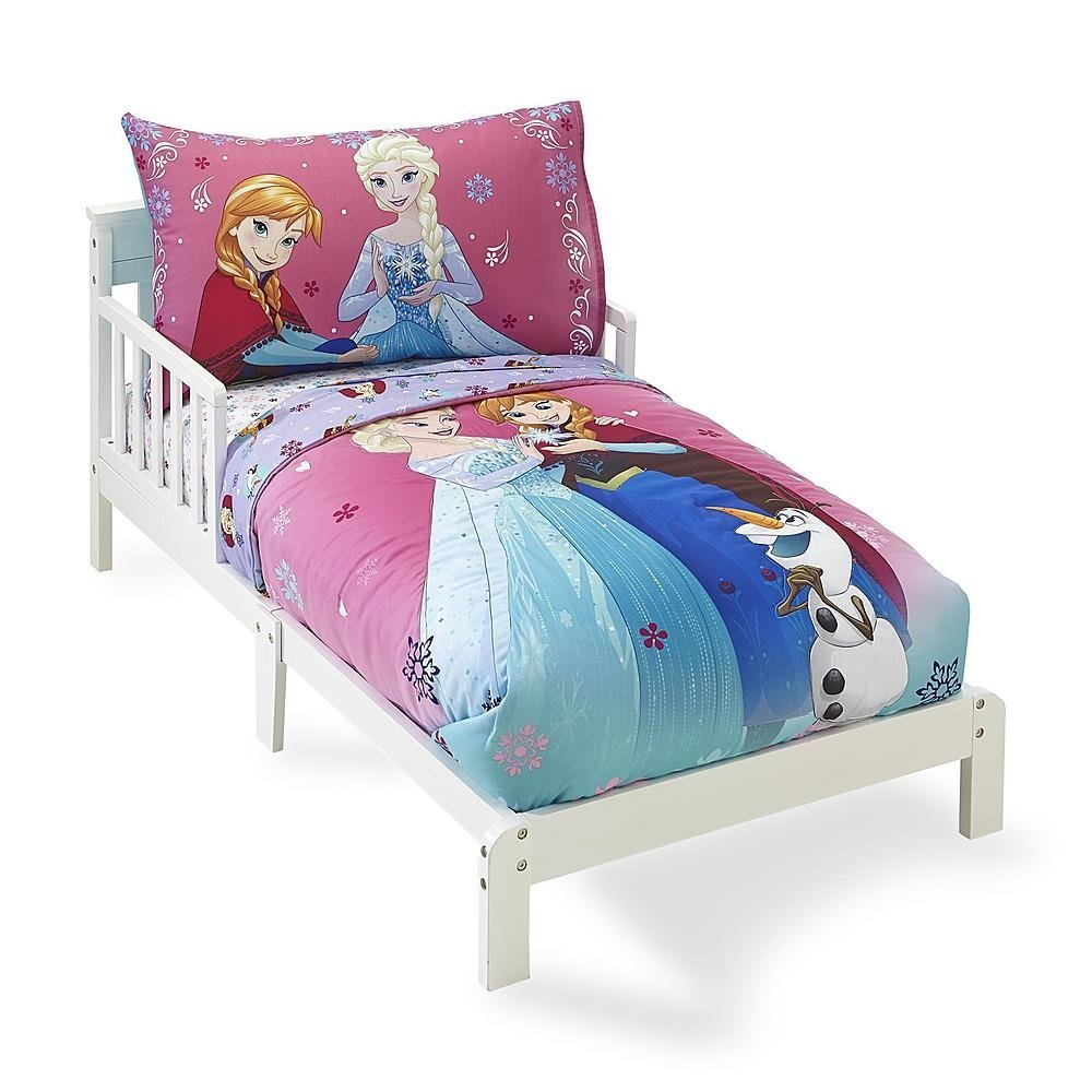 "Disney Frozen ""Sisters Forever"" 4 Piece Toddler Bed Set"