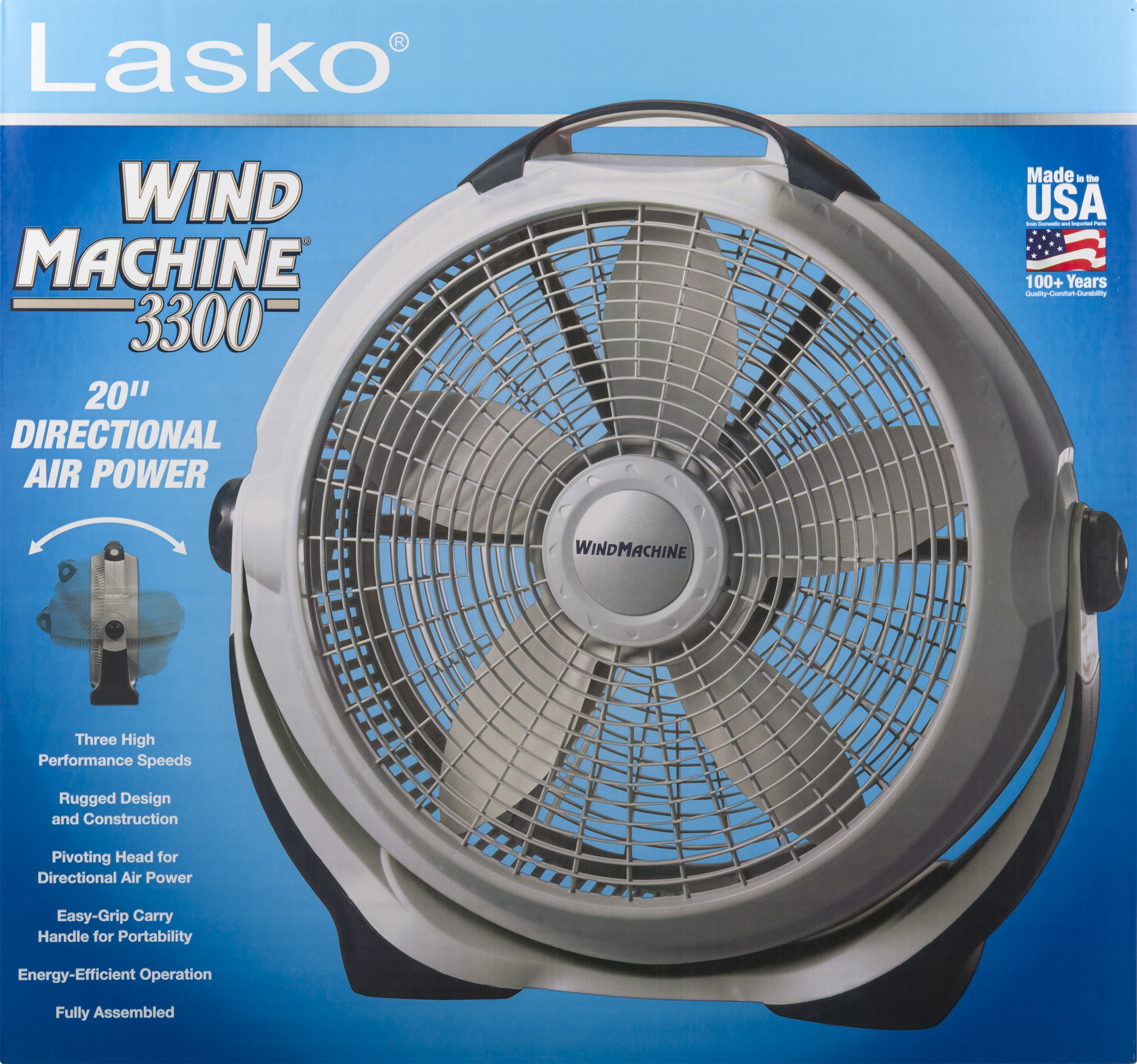 Lasko 20 IN Wind Machine, 1.0 CT Image 4 of 8
