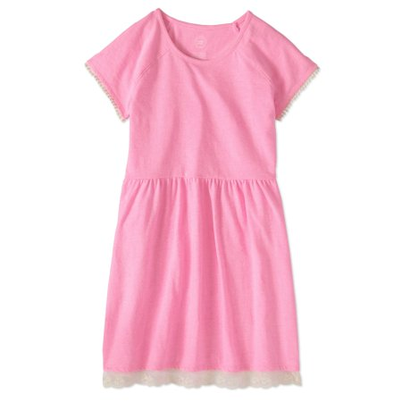 Girls' Lace Hem Fit-and-Flare Dress - Dress Up Clothes Kids