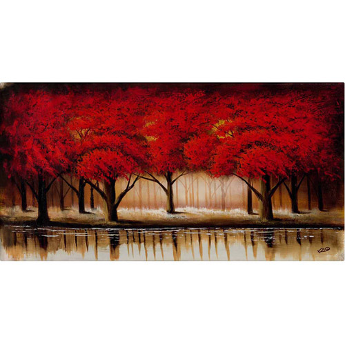 "Trademark Fine Art ""Parade of Red Trees II"" Canvas Art by Rio"