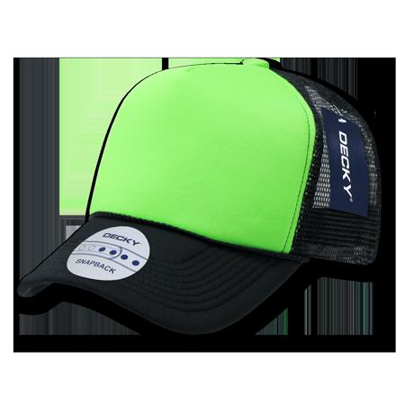 043c63eb883 DECKY NEON FOAM MESH TWO TONE TRUCKER HATS HAT CAPS CAP For Men Women  Black Neon Green - Walmart.com