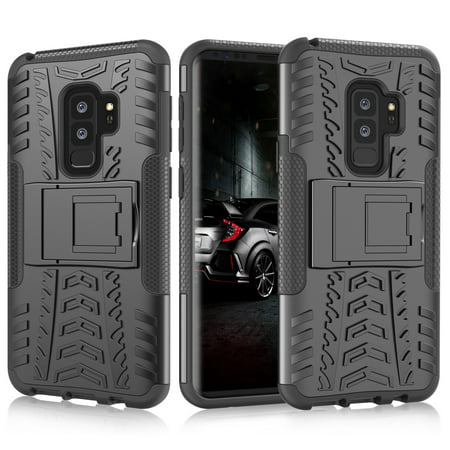 newest 8cc52 e1528 Galaxy S9 Plus Case, Samsung S9 Plus Kickstand, Galaxy S9+ Cover, Njjex  [Built-in Kickstand][Non-slip Design] Hybrid Full-body Rugged [Shock Proof]  ...
