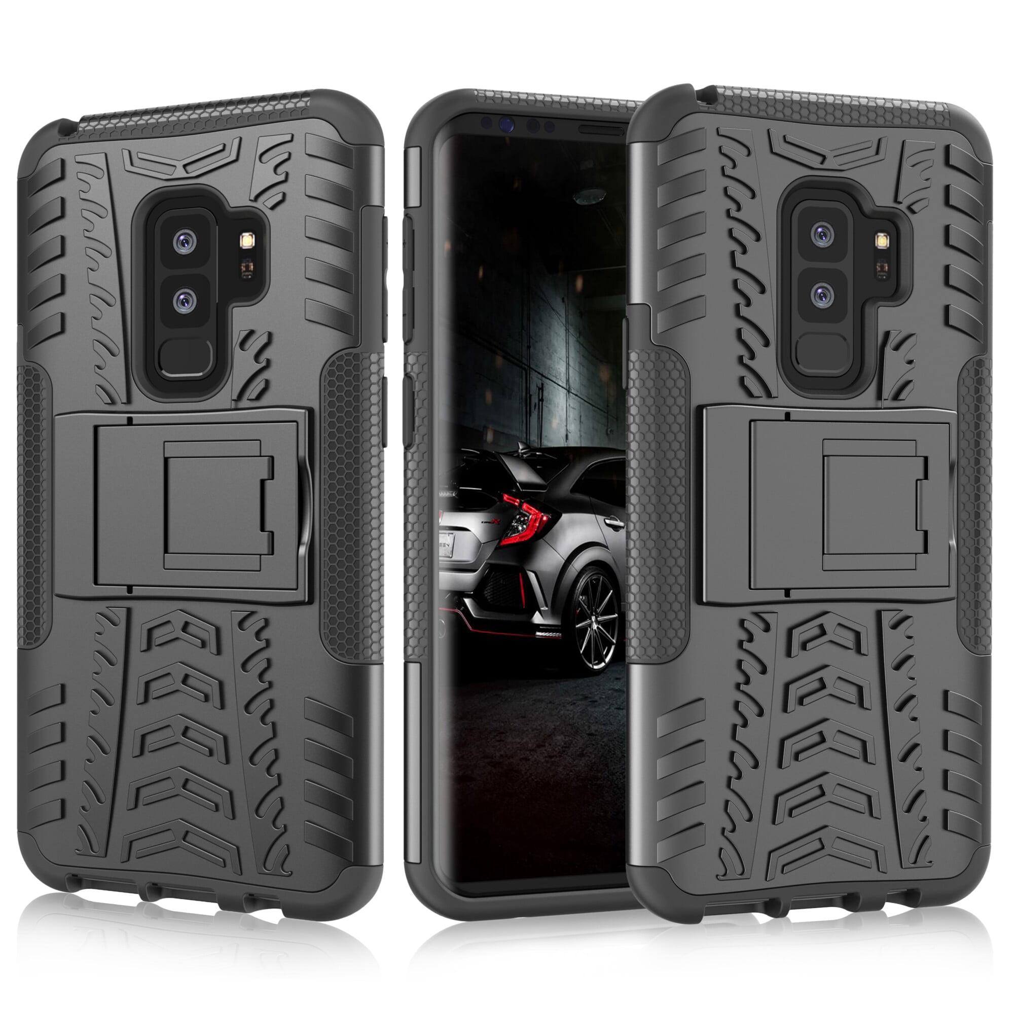 Galaxy S9 Plus Case, Samsung S9 Plus Kickstand, Galaxy S9+ Cover, Njjex [Built-in Kickstand][Non-slip Design] Hybrid Full-body Rugged [Shock Proof] Protection Cover For Samsung Galaxy S9 Plus -Black