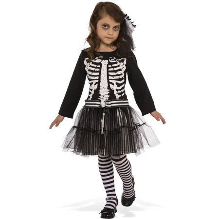 Little Skeleton Girls Ghoul Ballerina Child Halloween Costume - Dead Ballerina Halloween Costumes