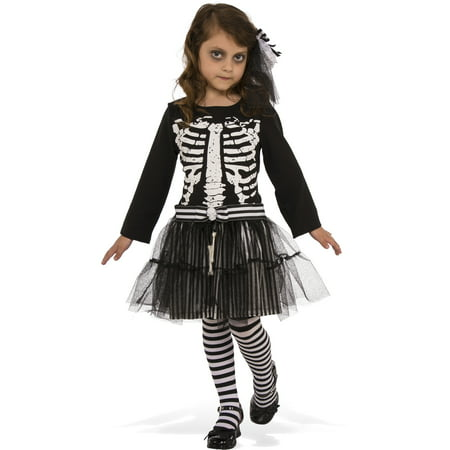 Little Skeleton Girls Ghoul Ballerina Child Halloween - Baby Ballerina Costume