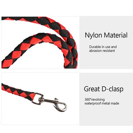Nylon Dog Leash 5ft Long Walking Dog Rope Metal Clasp Dog Chain Traction Rope for Medium Dog Training Walking Outside - image 5 de 7