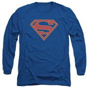 Supergirl Logo Mens Long Sleeve Shirt