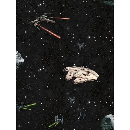 Star Wars Classic Ships Wallpaper 20.5 in. x 33 ft.  56sq.ft - Civil War Wallpaper