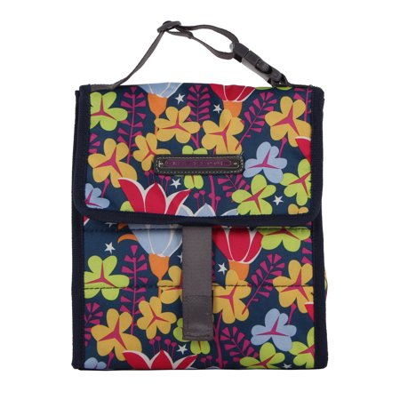 Lily Pad Keepsake Box - Lily Bloom Foldover Insulated Lunch Box / Portable Cooler Bag for Women (Lily Pad)