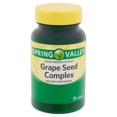 Spring Valley Standardized Extract Grape Seed Complex Capsules, 72 count