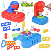 30 PCs Fine Toddler Tool Set, Work Bench Play Tools for Kids, Pretend Play Toy Tool Set