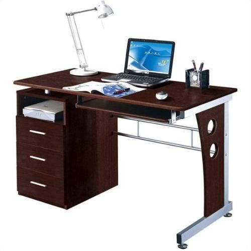 Techni Mobili Laminate Computer Desk in Chocolate