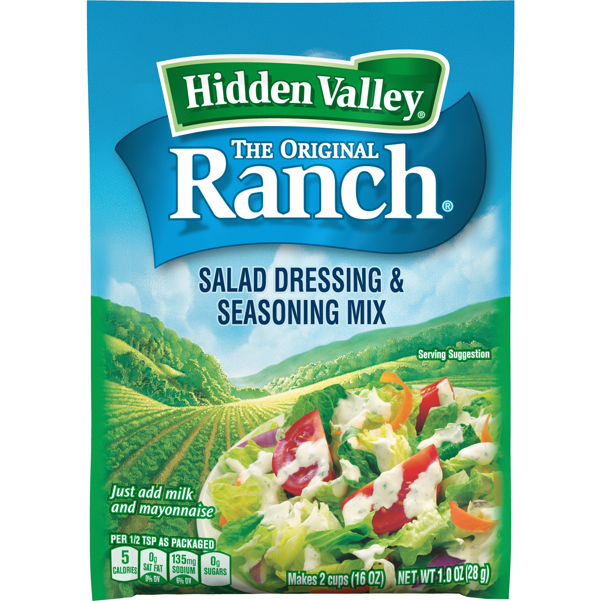 Hidden Valley Original Dry Ranch Salad Dressing & Seasoning Mix, 1 oz