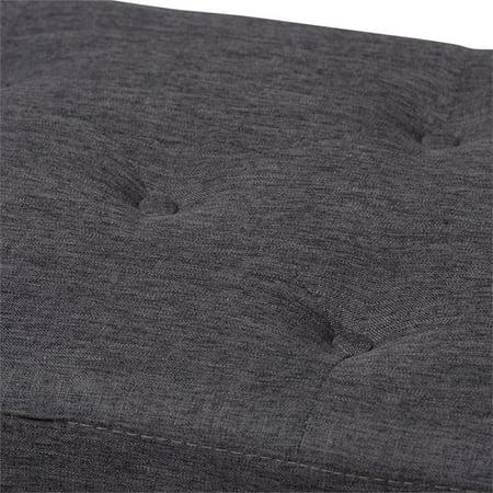 Hawthorne Collection Storage Bench in Dark Gray - image 2 de 8