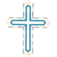 Holiday Time Lighted Cross Ornamental
