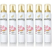 Pantene Pro-v Curly Hair No Crunch Curls Whip 5.29 Oz (Pack of 6) + Scunci Black Roller Pins, 18 Pcs