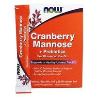 NOW Foods - Cranberry Mannose plus Probiotics - 24 Packet(s)