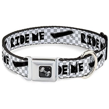 Buckle-Down Ride Me Skateboard  Dog Collar (Skateboard Buckle)
