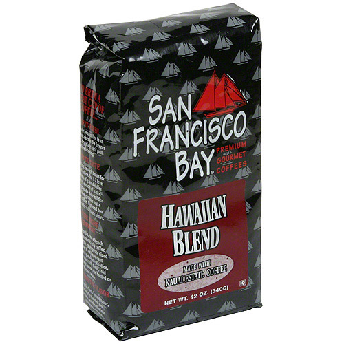 San Francisco Bay Coffee Hawaiian Blend Whole Bean Coffee, 12 oz (Pack of 6)
