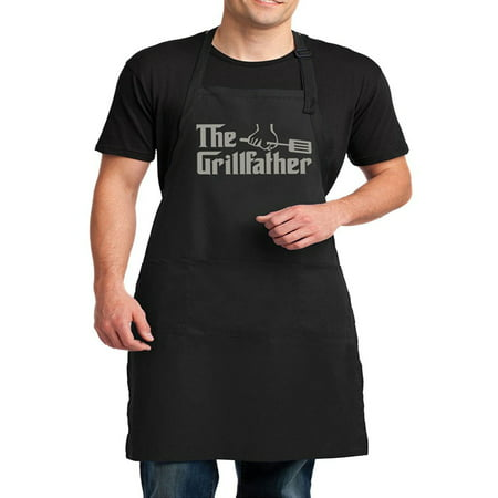 Men's The Grillfather Funny BBQ Apron - -