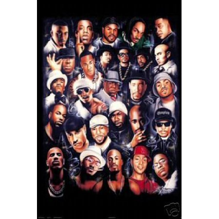 Rap Legends (Rapper Collage) Music Poster Print New (Music Posters Games)